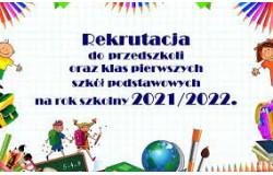 Rekrutacja do oddziałów przedszkolnych oraz klas I